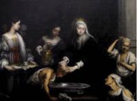 """Figura 11.""""Santa Isabel de Hungría curando a los tiñosos"""""""