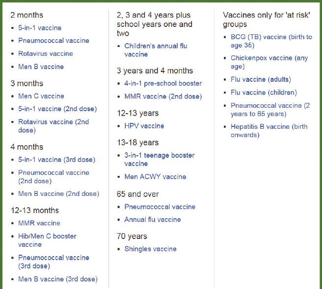 www immunise health gov au handbook